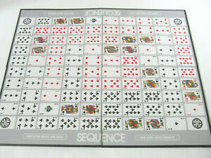 """Jax SEQUENCE 1995 Board Game Replacement Parts Board Only 19.5 x 15"""" Folding Q3"""