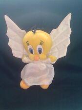 Tweety Pie Angel Soft Plush Beanie Toy Warner Bros Store 1999