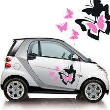 adesivo adesivi prespaziati stickers TUNING FARFALLE smart fiat 500 auto a0170