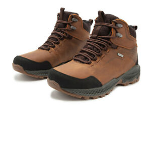 Merrell Mens Forestbound Mid Waterproof Walking Boots Brown Sports Outdoors