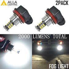 Alla Lighting 6000K White H11 H8 3020-LED Bulb Fog Light Driving Lamp Upgrade 2x