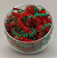 Weihnachten rot und grün Crinkle Zickzack Shredded Papier Korb Geschenk Verpackung