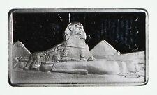 """VERY RARE Ag Mint 2.5 Grams .999 Fine Silver """"Sphinx"""" Bullion Bar"""