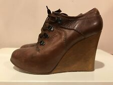 "CHLOE ""Silverado"" Iconic Oxford Wedges Distressed Leather, FALL 2006 Runway, 40"