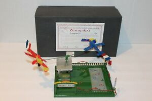 VERY NICE TUCHER & WALTHER WIND UP FRENCH AIRPORT with PLANES and BOX