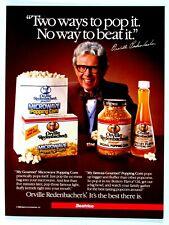 "Orville Redenbacher's Popping Corn Vintage 1985 Original Print Ad 8.5 x 11"""