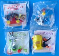 Vintage McDonald's Complete Set of 4 MIP Looney Tunes Happy Meal Toys - Canada