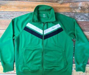 Nike Men's Full Zip Track Jacket Sz XL Green