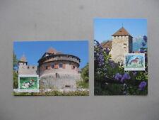 LIECHTENSTEIN, 2x maximumcard maxi card 2009, castle Vaduz