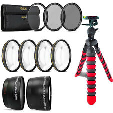 58mm Fisheye Wide Angle & Telephoto Lens Accessory Kit for Canon DSLR Camera