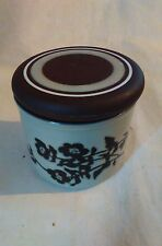 "LOVELY HORNSEA ""PRELUDE"" - LIDDED SUGAR BOWL / CONDIMENTS POT - 8.5cm"