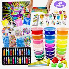essenson DIY Slime Kit for Girls Boys - Slime Making Kit with 24 Colors Crystal