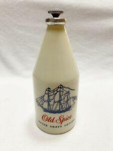 Vintage c 1956 OLD SPICE 4-3/4 oz After Shave Lotion Glass Bottle 80+% Full, USA