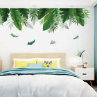 Removable Wall Sticker Decal Greenery Leaves Pattern Living Room Home Decoration