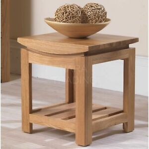 Crescent solid oak contemporary furniture side end lamp table