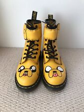 """Dr Doc Martens Yellow Cartoon Network """"Jake"""" Leather Lace Up Boots (UK Size 2)"""