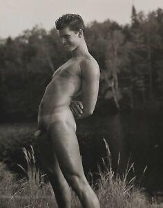 1989 Vintage BRUCE WEBER Young Nude Male ROB Canoe Lake Photo Gravure Art 12X16
