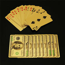 Trademark US Poker 24k Gold Foil Plated Deck Playing Cards Best Gift 99.9% Pure