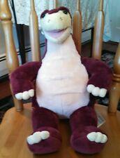 "BABW Build a Bear Dinosaur Dino LG 19"" Stegosaurus Burgundy/ Maroon"