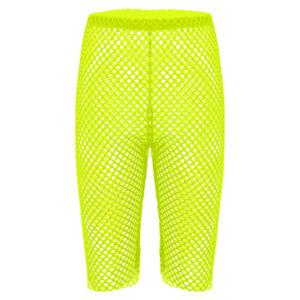 Women Sheer Fishnet Legging Shorts Hollow Out Mesh Half Hot Pants Swimwear Booty