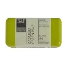 R&F Encaustic 40ml Paint, Cadmium Green Pale