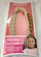 "NEW American Girl Dos Braided Headband Carmel Hair  Fits 18"" Doll NIP *Retired*"