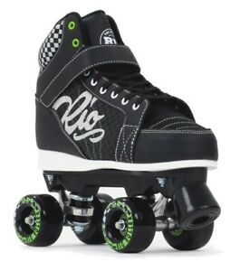 Rio Roller Mayhem II Quad Roller-Skates Rio-325 (UK Size 10 Black) Fast Postage