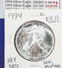 1994 Silver American Eagle BU 1 oz Coin US $1 Dollar Uncirculated Mint Key Date