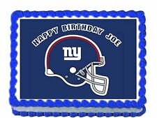 "NFL NYGaint Edible image Cake topper decoration 7.5:""x10"" - personalized free!"