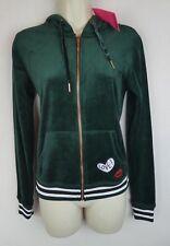 NEW NWT $64 Betsey Johnson S green velour track suit top designer