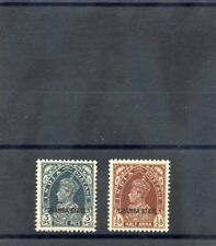 INDIA (CHAMBA) Sc 70-1(SG 82-3)*F-VF LH 1938 3p SLATE, 1/2a RED BROWN $35