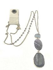 ANTHROPOLOGIE GLISTENING AMETHYST PENDANT NECKLACE -- NEW WITH TAG
