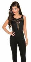 KouCla Bandeau Overall S M L 34 36 38 40 Jumpsuit Catsuit Party Anzug  Club