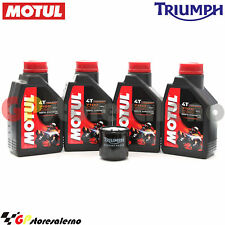 KIT OLIO + FILTRO ORIGINALE MOTUL 7100 10W40 4L TRIUMPH 1050 SPEED TRIPLE 2008