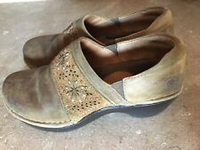 Womens ARIAT Slipon Clog Mule Shoes, Size 7.5B, Brown