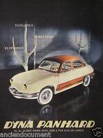 PUBLICITÉ PRESSE 1958 DYNA PANHARD ÉLÉGANCE ROBUSTESSE ÉCONOMIE - ADVERTISING