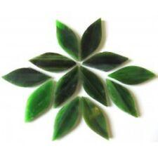 Olive Grove Green handcut Tiffany Petals for Mosaics, 12 pieces.