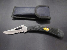 """The Ventilator"" folding knife, 3 inch stainless steel blade with Sheath"