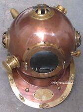 Full Size Marine Brass & Steel Deep Sea Divers Anchor Engineering Diving Helmet
