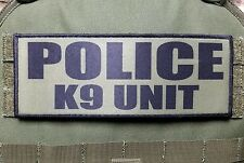"""3x8"""" POLICE K9 UNIT OD Green Tactical Hook Plate Carrier Morale Raid Patch SWAT"""