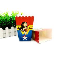 6pcs Wonder Woman Theme Birthday Party Decoration Popcorn Box for Kids Party