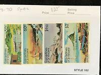 St Vincent Grenadines #267-270 MNH Specimen CV$2.70 Frigate Rock/Conch Shell ...