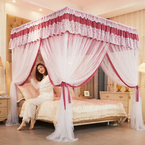summer canopy for bed mosquito net with stainless steel tubes frame bed netting