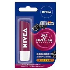 [NIVEA] Fruity Shine BLACKBERRY 24h Melt-in Moisture Tinted Lip Balm 4.8g NEW