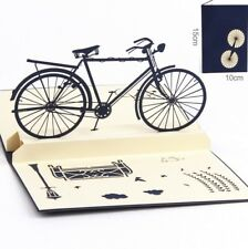 3D Pop Up Card Vintage Cycling Bike Holiday Greeting Baby Child Gift Cards