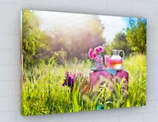 SUMMER FLOWER GARDEN CANVAS PICTURE PRINT WALL ART CHUNKY FRAME LARGE 350-2