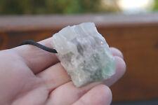 Fluorit Rohstein Anhänger A22 gebohrt ca.4,2 cm/62g schöner großer Rohkristall