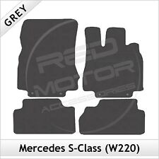 Tailored Carpet Floor Mats for MERCEDES S-Class SWB W220 1998-2005 GREY