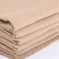 "63"" Width Hessian Fabric Upholstery Burlap Cloth Natural Jute Craft Wedding DIY"