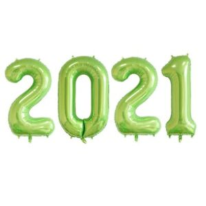 """16"""" 40"""" Number Balloon 2021 Prom Foil Balloons New Year Eve Grad Float Helium"""